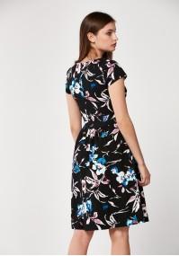 Dark flared dress