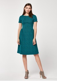 Turquoise tapered dress