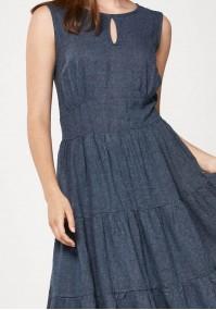 Lniana maxi sukienka
