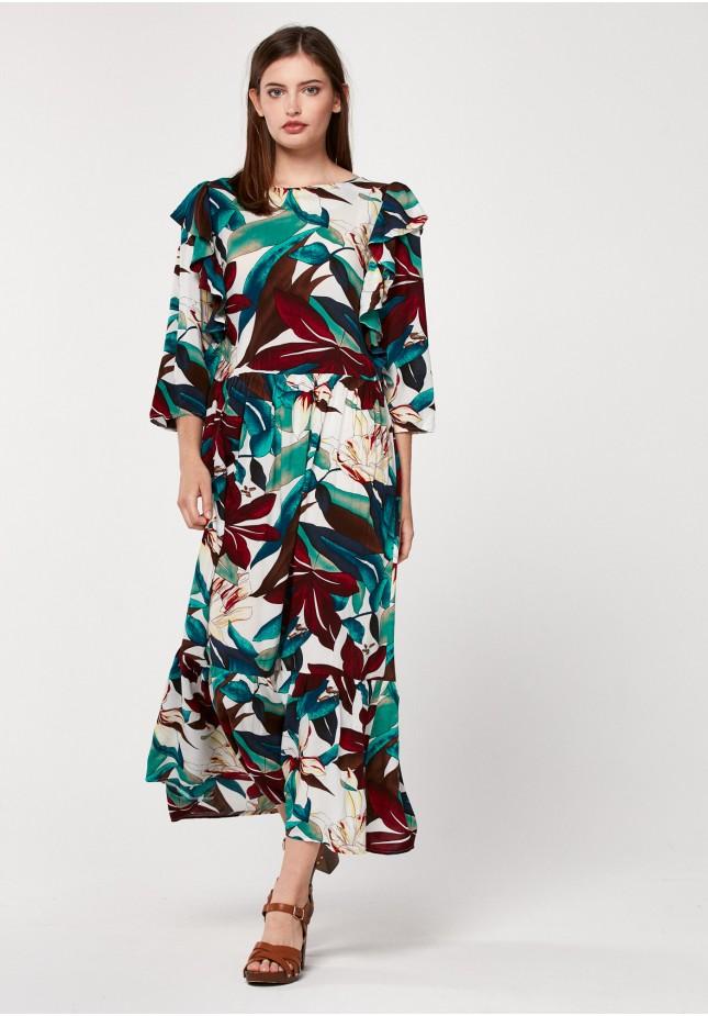 Długa kolorowa sukienka