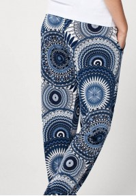 Home pants with round pattern