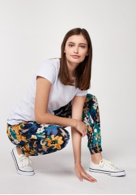 Home pants with big flowers