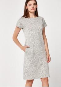 Szara sukienka w panterkę