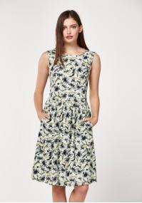 Linen flowery dress