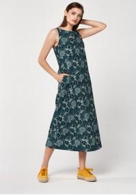 Linen midi dress