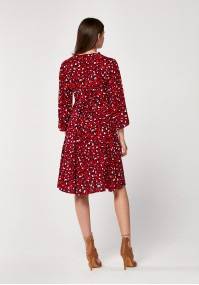 Red dress with animal print
