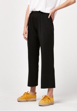 Straight black pants