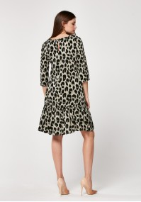 Dress with animal print