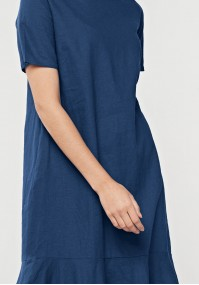 Linen dress with frill