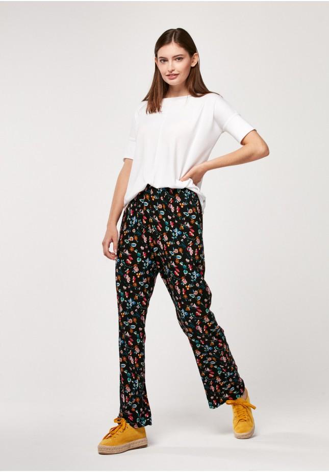 Spodnie 5023 (kolorowe kwiaty)