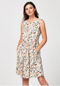 Sukienka 1358 (jasna w kwiaty)