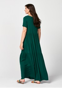 Maxi dark green dress
