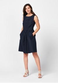 Elegancka granatowa sukienka