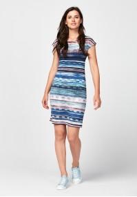 Dopasowana sukienka w paski