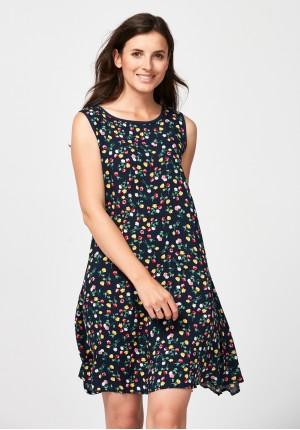 Trapezowa sukienka w kwiatki