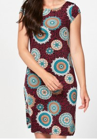 Simple dress with rosettes