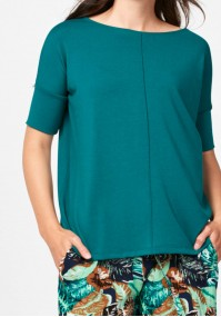 Dark green knitted blouse