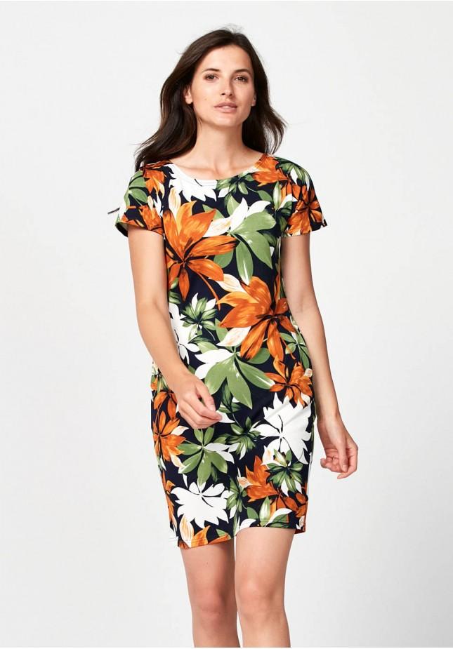 Kwiecista letnia sukienka