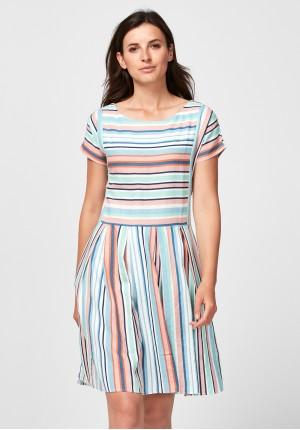 Pastel linen dress
