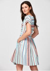 Pastelowa lniana sukienka