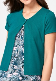 Dark green sweater with short sleeves