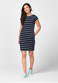 Navy blue straight dress