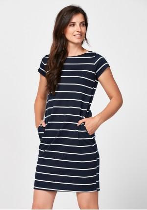 Navy blue straight dress