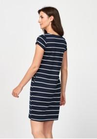 Granatowa prosta sukienka