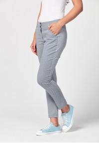 Biało-granatowe spodnie