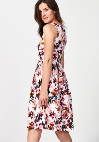 Dress with pink leaves