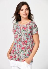 Bluzka w różowe kwiaty