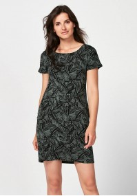 Simple dark green dress