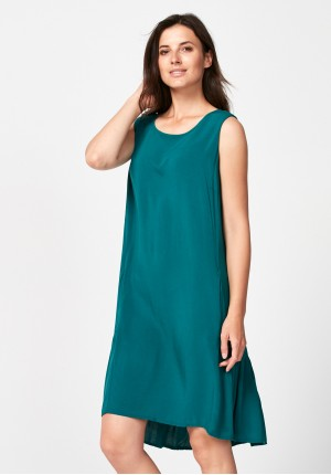 Dark green dress with frill
