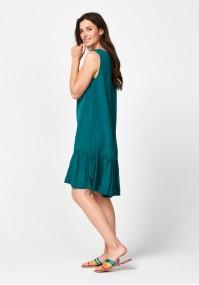 Dark green dress with frill