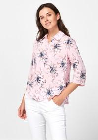 Różowa koszula w kwiaty