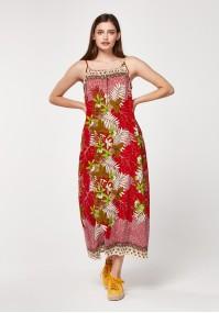 Plażowa czerwona sukienka