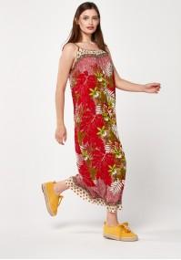 Beach red dress