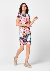 Dress with pastel colours