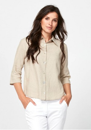 Viscose and linen shirt