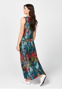 Maxi dress with colorful spots
