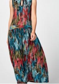 Maxi sukienka w kolorowe plamy