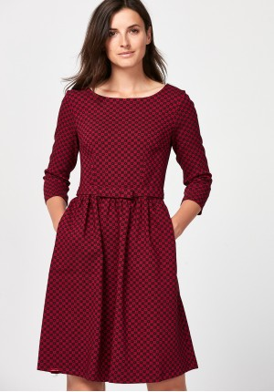 Elegant burgundy dress