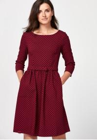 Elegant burgundy dress