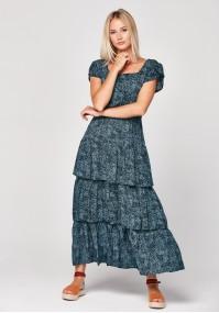 Maxi dress with frills