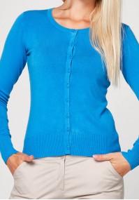 Klasyczny niebieski sweter