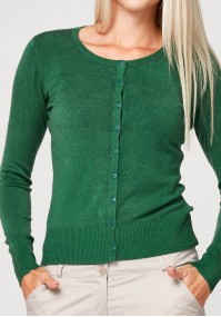 Klasyczny ciemnozielony sweter
