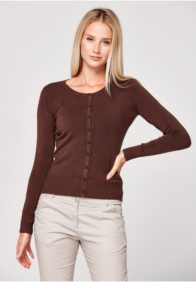 Klasyczny brązowy sweter