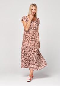 Trapezowa sukienka midi