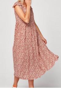 Brown midi dress