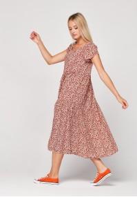 Brązowa sukienka midi